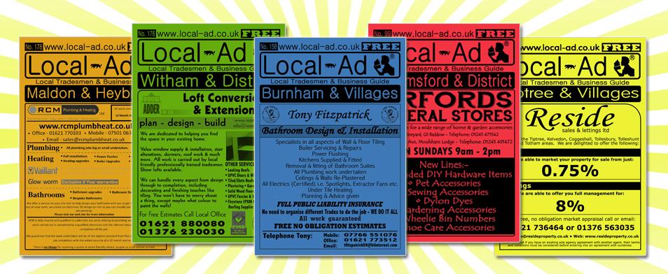 Magazine, Online Advertising & Web Design in Maldon, Burnham, Witham, Tiptree, Chelmsford and villages.