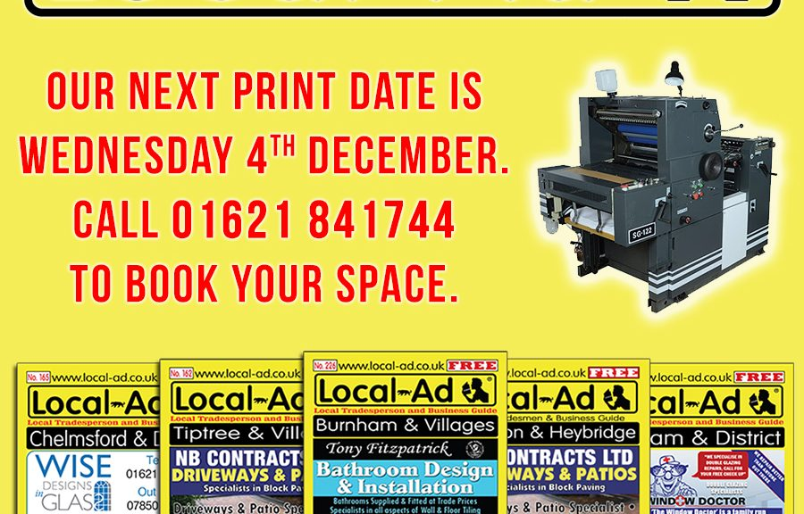 Local Ad magazine print date